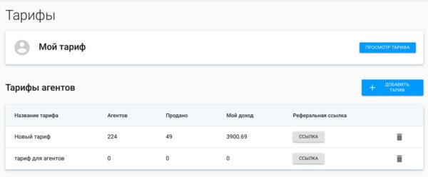 Создание тарифов для субагентов в ЛК agents.banki.ru